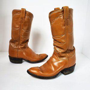 Tony Lama Tan Leather Western Cowboy Cowgirl Boots
